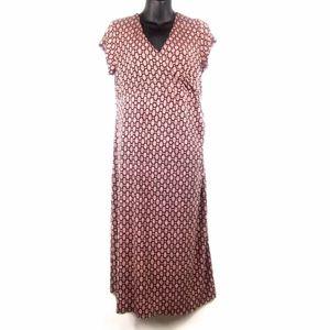 Liz Lange Maternity Polka Dots Maxi Dress Sz S
